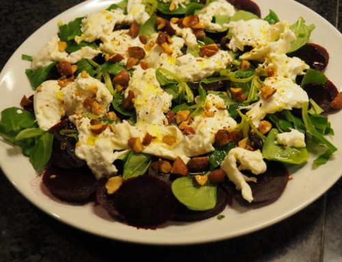 Beetroot salad with burrata