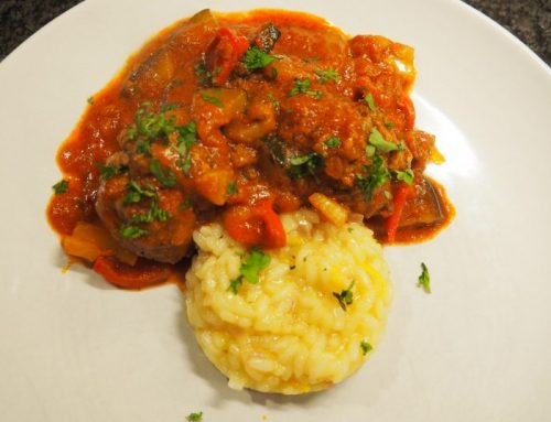Meat balls in a vegetable sauce