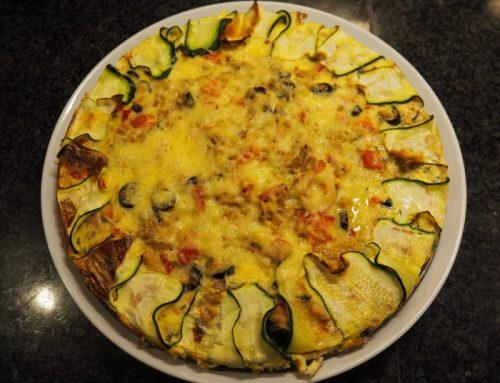Tuna- Zucchini quiche