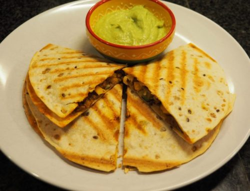 Vegetarian quesadillas with avocado