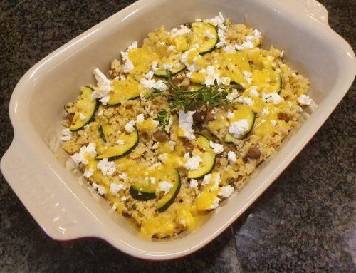 Couscous mushroom salad
