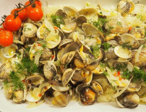 Pasta with vongole and fennel