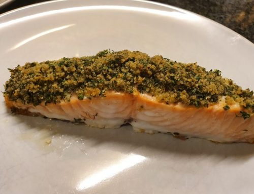 Salmon with a crunchy herb crust