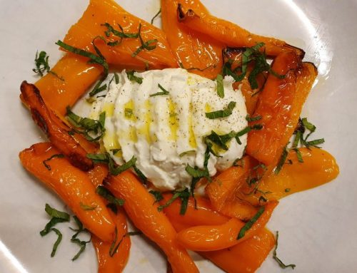 Yellow pointed pepper salad
