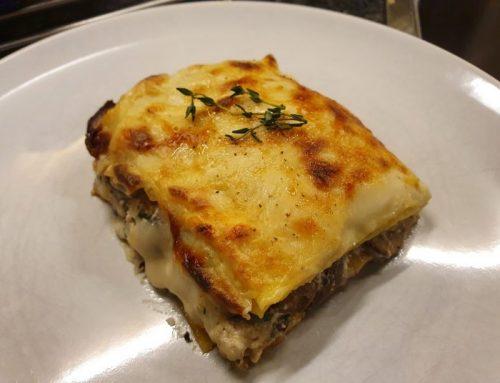 Mushroom truffle lasagna