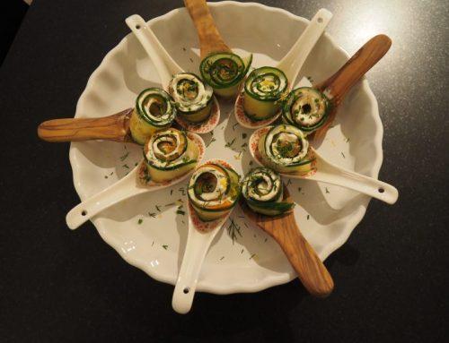 Cucumber – salmon roll