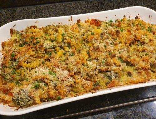 Tuna and broccoli pasta dish