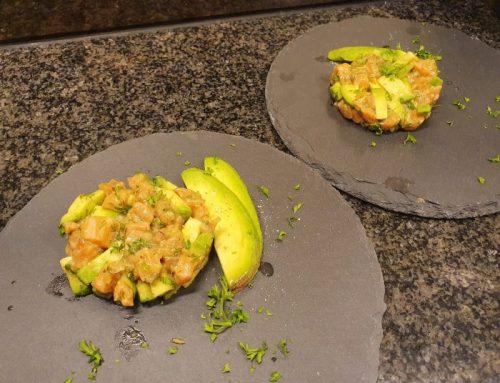 Salmon tartare with avocado
